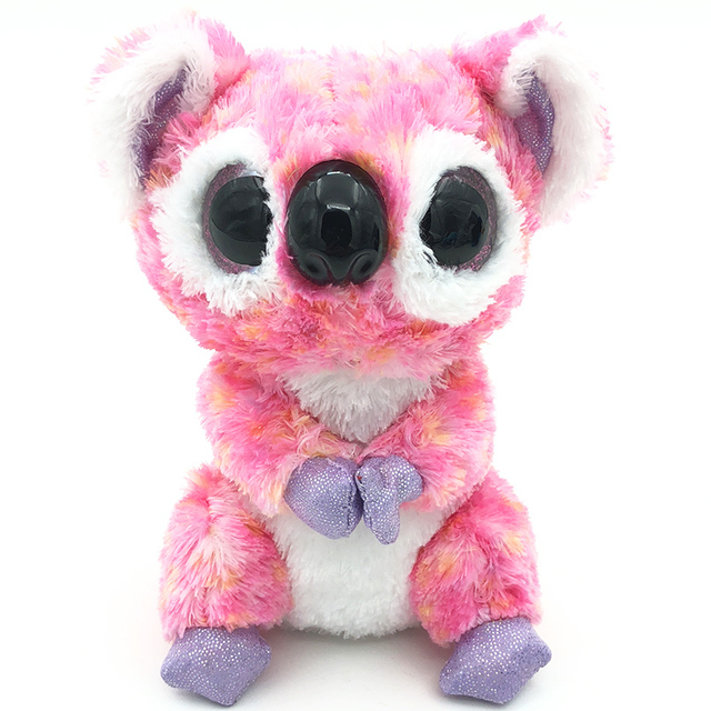 Hot 15cm Stuffed Doll TY Beanie Boos Animal Cute Pink Koala Bear Soft beanie  boo Lovely 88a27a505af