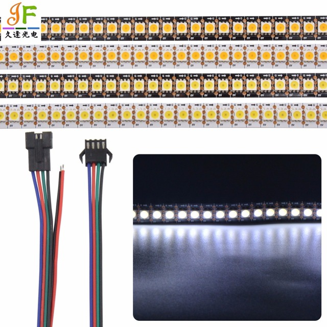 Address 5X1 m 144 LEDs/m 5 V APA102-C SK9822 5050 144 pixel/m Kühles Weißes Warmes WEIß farbe led pixel streifen WEIß Schwarz PCB