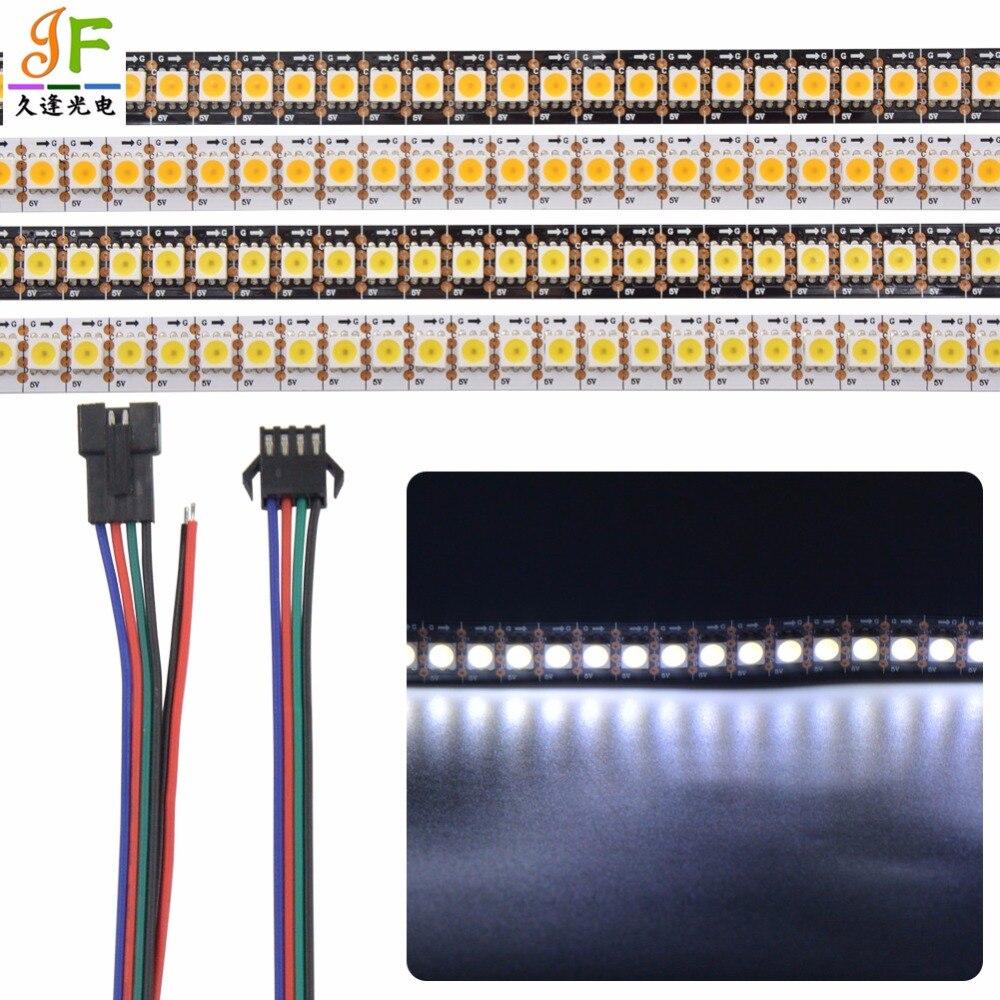 Addressable 5X 1m 144LEDs/m 5V APA102-C SK9822 5050 144 pixels/M Cool White Warm WHITE color led pixel strip WHITE Black PCB sisjuly white m
