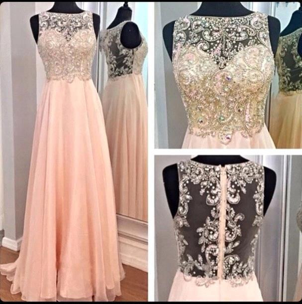 Independent 2016 Crystal Long Evening Dress Beaded Pearl Pink Pure Fantasy Woman Party Formal Dress Prom Dress Df456 Without Back Of A Chair Weddings & Events