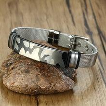 Mann ID Armband Edelstahl Mesh Kette Gürtel Verschluss Horus Viking Triple göttin Männlichen Geschenk