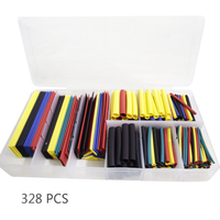 328Pcs 8 Sizes Multi Color Polyolefin 2 1 Halogen Free Heat Shrink Tubing Tube Assortment Sleeving