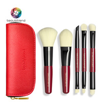 Beautyblend Brand Makeup Tools High Quality Red Color 5 Pieces With One PU Bag J 8040