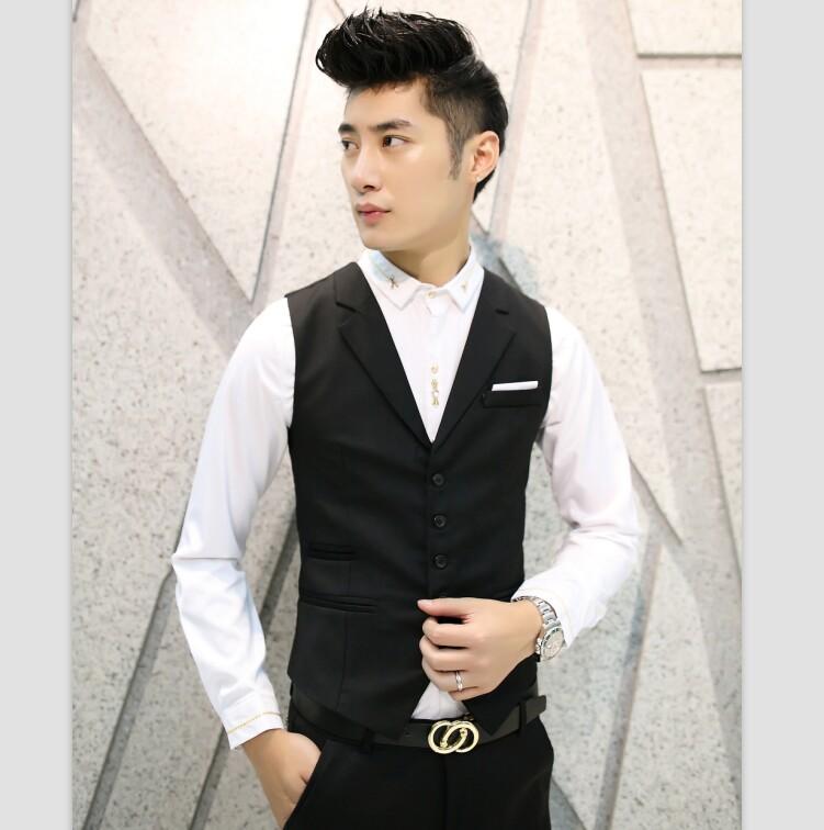 New-Brand-Clothing-Men-Vest-Black-Gray-Blazer-Collar-Sleeveless-Suit-Vests-Classic-Dress-Slim-Fit (2)