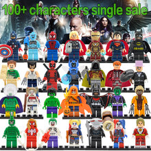 Single Hot Super Heroes 500+ Hot Figure Marvel DC Avengers Deadpool Starfire Batman Superman Iron Man Building Blocks toys