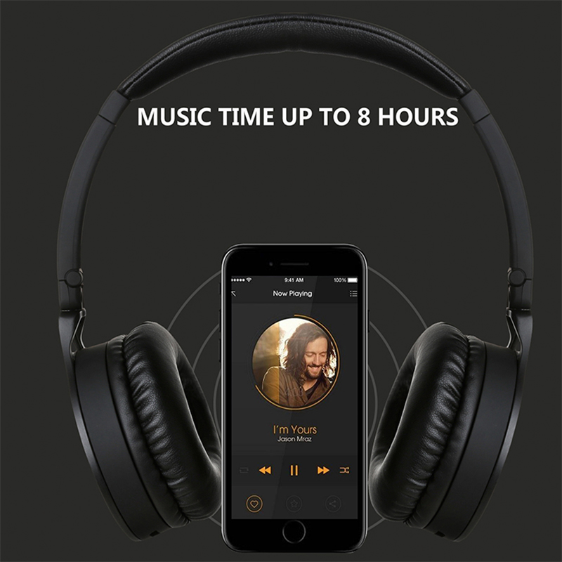 Oneodio Wireless Bluetooth Headphones Over-Ear HIFI Bluetooth 4.1 Headset Deep Bass Stereo Headphone With Mic For Xiaomi Phones 2016 new metal bluetooth stereo super bass headphones 8600 bluetooth 4 0 high fidelity wireless over ear headset for smart phone