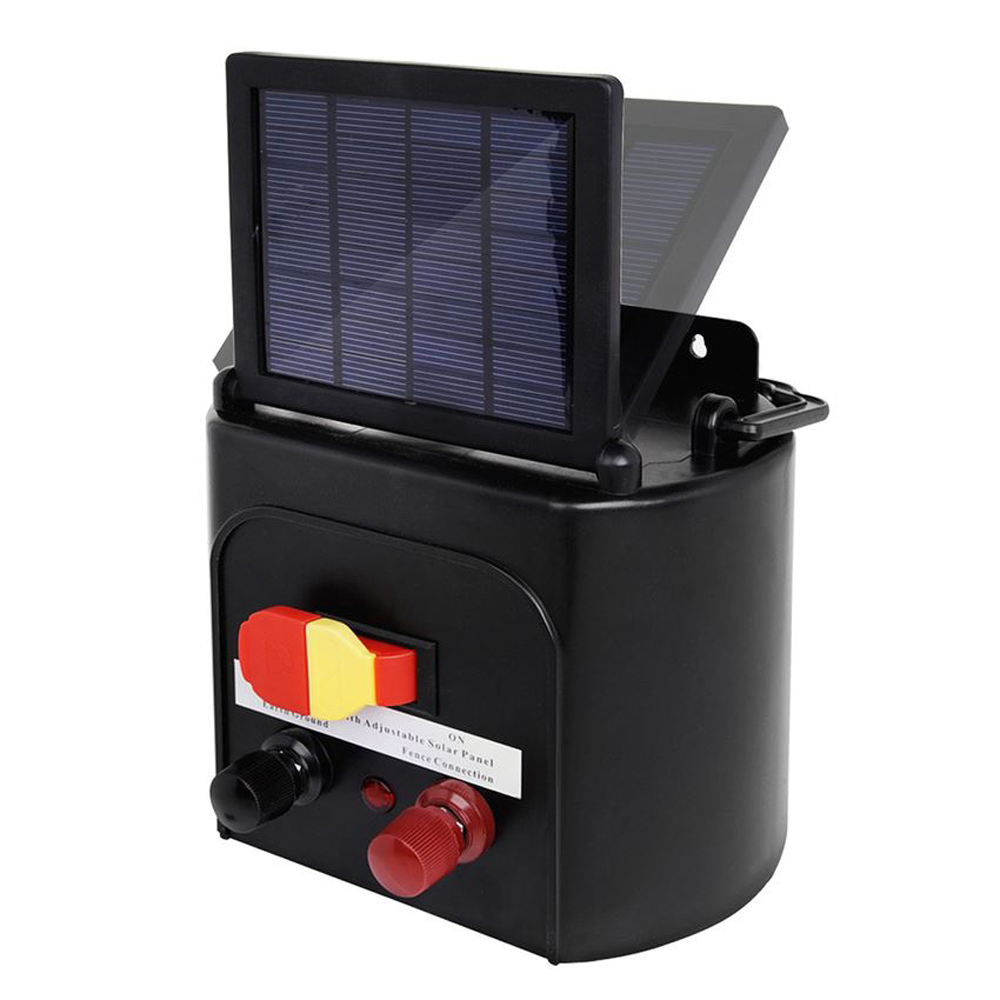 Solar Power Electric Fence Charger Energizer With Solar