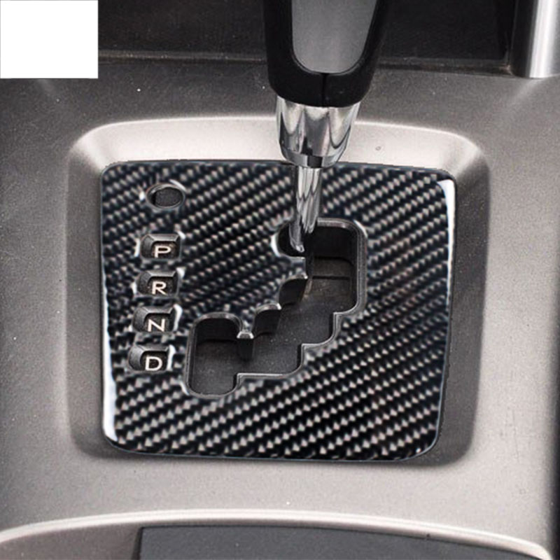 lsrtw2017 carbon fiber car gear panel trims for subaru forester 2008 2009 2010 2011 2012 in Interior Mouldings from Automobiles Motorcycles