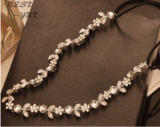 Fashion Little Flower Stretch Head band Crystal Headband Hair Acessories Headwear Women Hair Jewelry