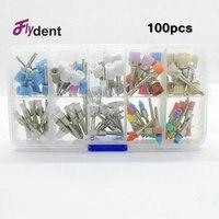 100Pcs Dental Material Brush Assorted Dental Prophy Brush Coloring New Nylon Polishing Brush Dental Use