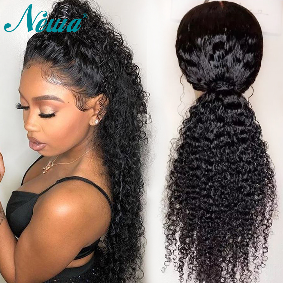 Newa Hair Pre Plucked Full Lace Human Hair Wigs With Baby Hair Glueless Curly Full Lace