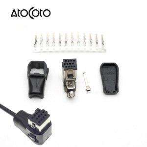 Image 1 - 파이 오니 아 헤드 유닛 CD/라디오 IP BUS 소켓 용 12 핀이있는 AtoCoto 오디오 입력 AUX 플러그 수정 된 DIY 어셈블리 커넥터