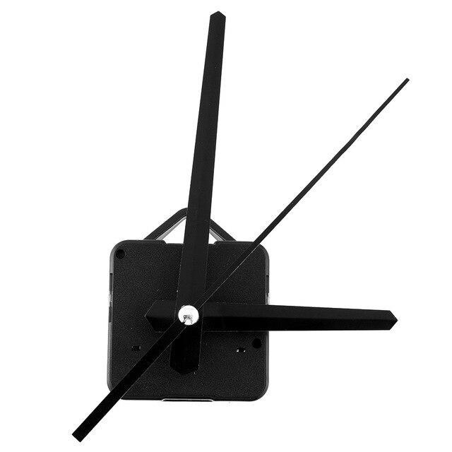 New Creative Black Hands Quartz Clock Movement Mechanism Parts Repair Replacing DIY Essential Set Quiet