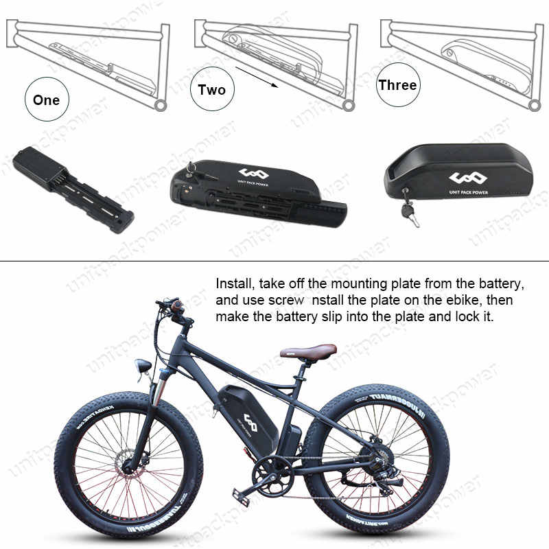 UPP 36V 15Ah/ 48V 13Ah Electric Bicycle Battery 48V Lithium Battery for 1000W 750W 500W 350W BBS01 BBS02 BBS03 Ebike