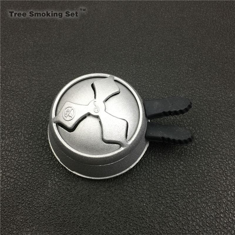 GlassTobacco Bowl & Black Charcoal Holder Single Handle Set For Shisha / Hookah / Sheesha /Chicha / Narguile double two handle