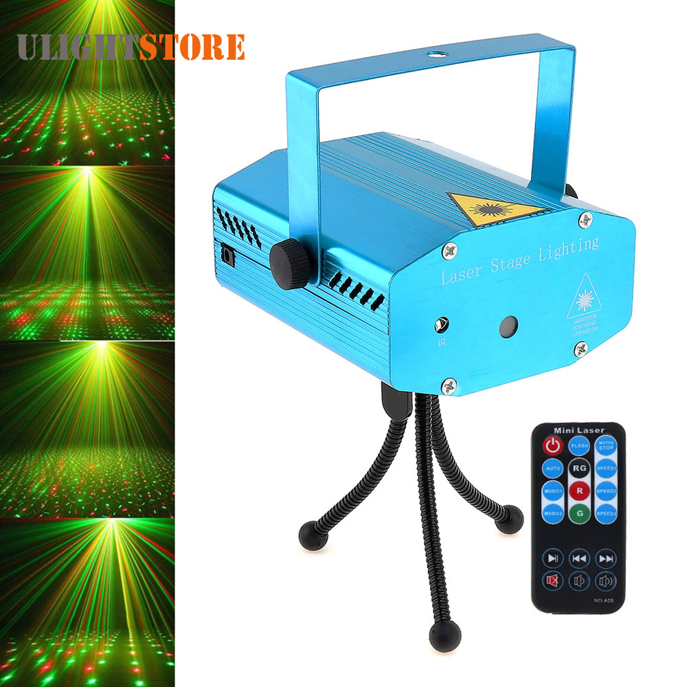 Mini Green Red LED Stage Effect Light Auto / Voice Xmas Festival Party Disco DJ KTV Bar Club Laser Projector Lamp with Remote