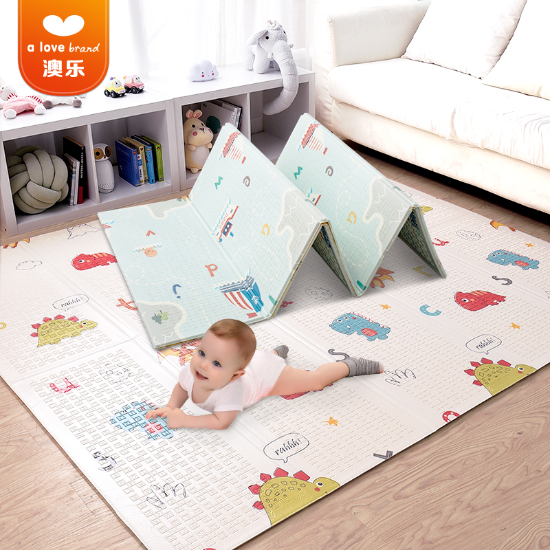 High quality 3 months baby folding activity mat waterproof non-slip with interesting animal pattern tree wall decals 260x360cm reindeer tree forest birds wall stickers decal art nursery decor wall sticker for kids room wallpaper