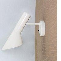 Free Shipping Replica Louis Poulsen Arne Jacobsen Classic Black White Metallic Paint AJ Wall Lamp