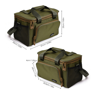 Image 2 - Мужская сумка для рыбалки Lixada, многофункциональная сумка на плечо, сумка для рыбалки, рыболовная катушка, сумка для хранения, рыболовная снасть 37*25*25 см