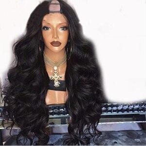 Simbeauty 250% densidade u parte perucas onda do corpo parte média 2*4 u parte perucas de cabelo humano para as mulheres brasileiro remy cabelo cor natural