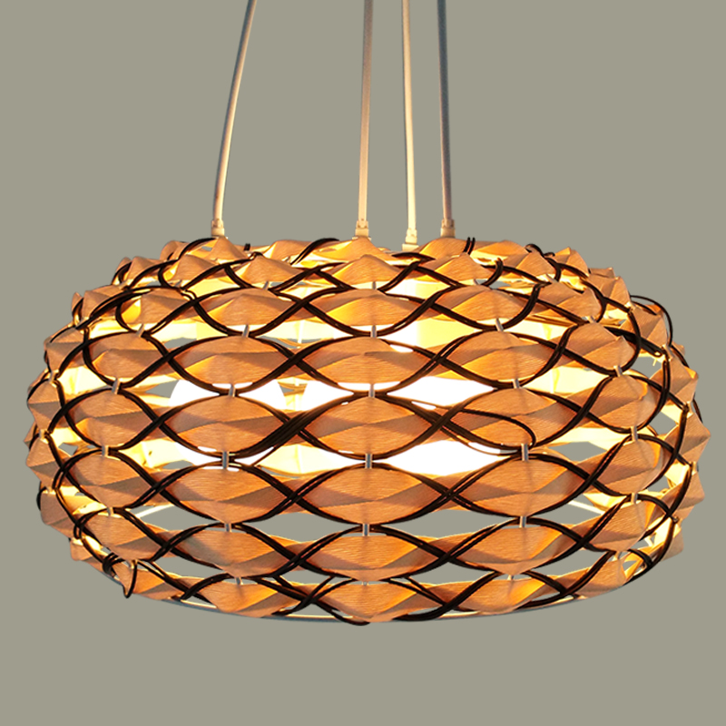 Hemp Pendant Lights personality creative ball rattan bird nest lamp rattan Nordic restaurant lamps LU630 ZL42