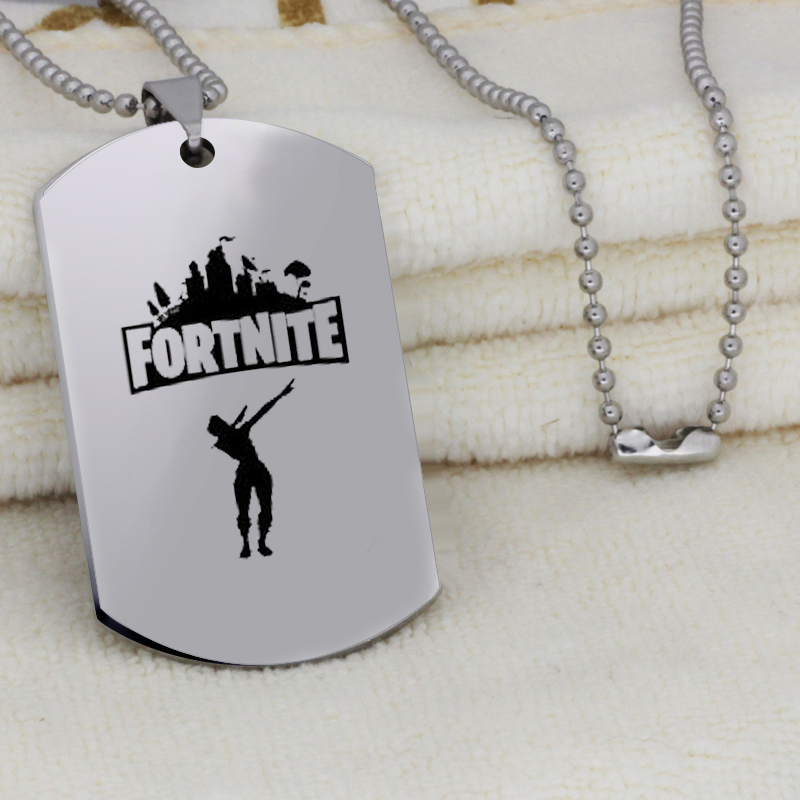 Stainless Steel Pendant Hot&Classic FPS Game Fortnite Logo Necklace Laser Printing Personalized Jewelry Do not fade YLQ6112