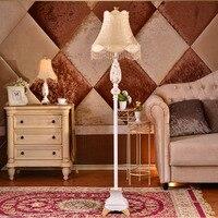 Pastoral Retro Led Resin European Style Floor Lamp E27 110V 220V Modern Floor Lamps For Living
