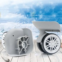 2pcs Travel Bags Replacement Luggage Suitcase Wheels Left Right Universal Wheels