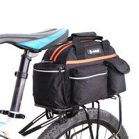 Outdoor Bike Pannier Bag Waterproof Cycling Bike Bag 15L Rear Seat Rack Storage Trunk Travel Handbag Bicycle Accessories