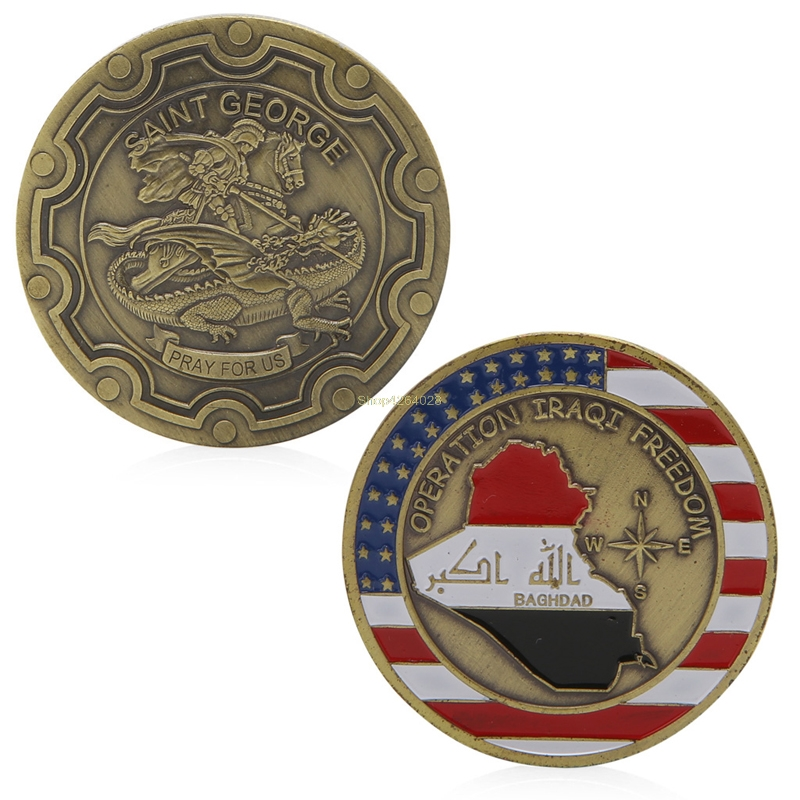 2018 Meaningful Saint George Pray For Us Commemorative Coin Zinc Alloy Commemorative Coin Collection No-currency Coins Gift