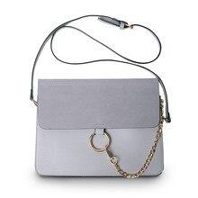 Luxus Marke Frauen Messenger Bags Ketten Patchwork Schulter Crossbody-tasche Damen Metall Ring Leder Stella Tasche Clutch Sac Ein Haupt