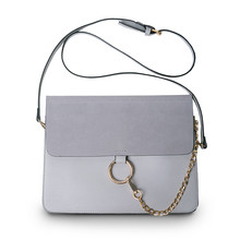 Luxury Brand Women Messenger Bags Chains Patchwork Shoulder Crossbody Bag Ladies Metal Ring Leather Stella Bag Clutch Sac A Main