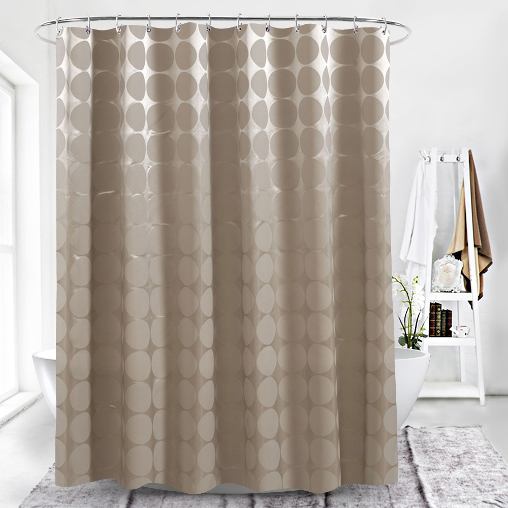 Morigins Fashion Retro Shower Curtain Nostalgic Polka Dots Brown