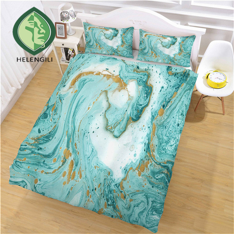 HELENGILI 3D Bedding Set Marble Print Duvet Cover Set Bedclothes with Pillowcase Bed Set Home Textiles #DLS-10HELENGILI 3D Bedding Set Marble Print Duvet Cover Set Bedclothes with Pillowcase Bed Set Home Textiles #DLS-10
