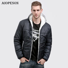 Фотография AIOPESON New Winter Jacket Men Fashion Solid Color Slim Fit Mens Coats Jacket Brand Clothing Warm Waterproof Male Casual Coats