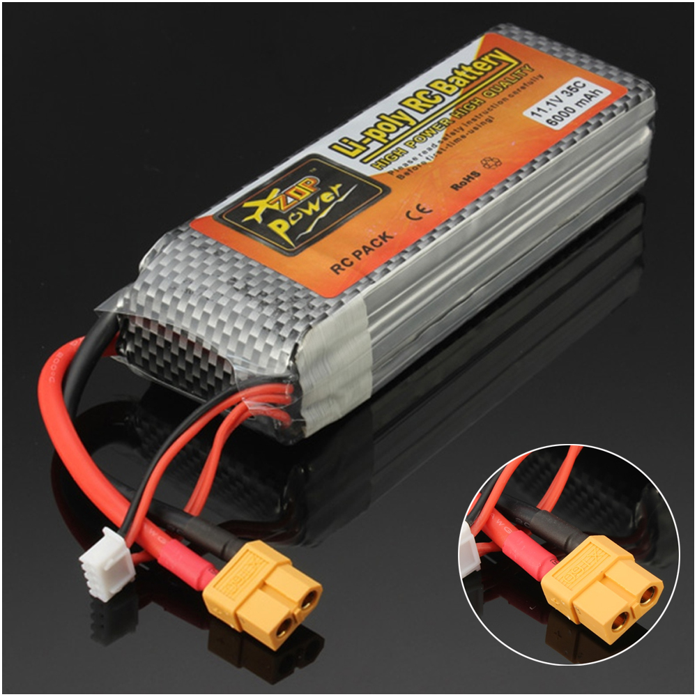 1pcs ZOP Power LiPo Battery 11.1V 6000mAh 3S 35C XT60 Plug For RC Quadcopter Drone Helicopter Car Airplane image