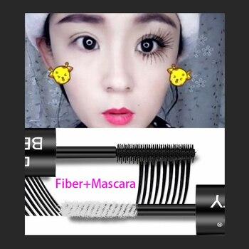 2 in 1 Mascara Waterproof Lengthens Eye Lash Black White Rimel 4d Curling Maskara Volume 4D Silk Fiber Eyelash Mascara 1