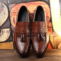Tassel Men Oxford Shoes Mens PU Leather Crocodile Casual Shoes Luxury Dress Party Wedding Flats Shoes Zapatos Hombre 2017 New