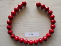 B0006 Natural 16.5mm Red Coral Gems Stone Round Beads 15'' Strands Jewelry Making DIY