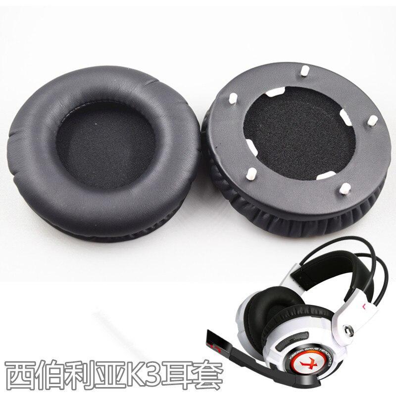 SHELKEE Copos de Ouvido Cobrir Ouvido Earpads Substituição Ear pads Almofada para XIBERIA K3 Internet cafe de peças de Reparo