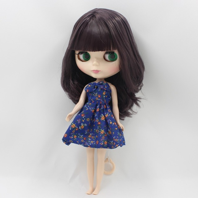 TBL Neo Blythe Doll Deep Purple Hair Regular Body