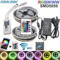Wifi контроллер 5050 RGB светодиодные полосы света лампы 10 м rgbww rgbw полосы неоновый, гнущийся лента Диодная лента DC 12 V адаптер Набор струн