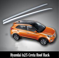 For Hyundai ix25 Creta 2014 2019 Aluminium alloy Silver Top Roof Rails Rack Side Bars Decoration Trim Car Accessories