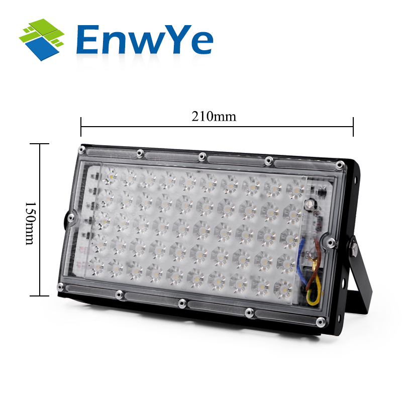 EnwYe 50W perfect power LED Flood Light Floodlight LED street Lamp 220V 240V waterproof Landscape Lighting IP65 led spotlight 5