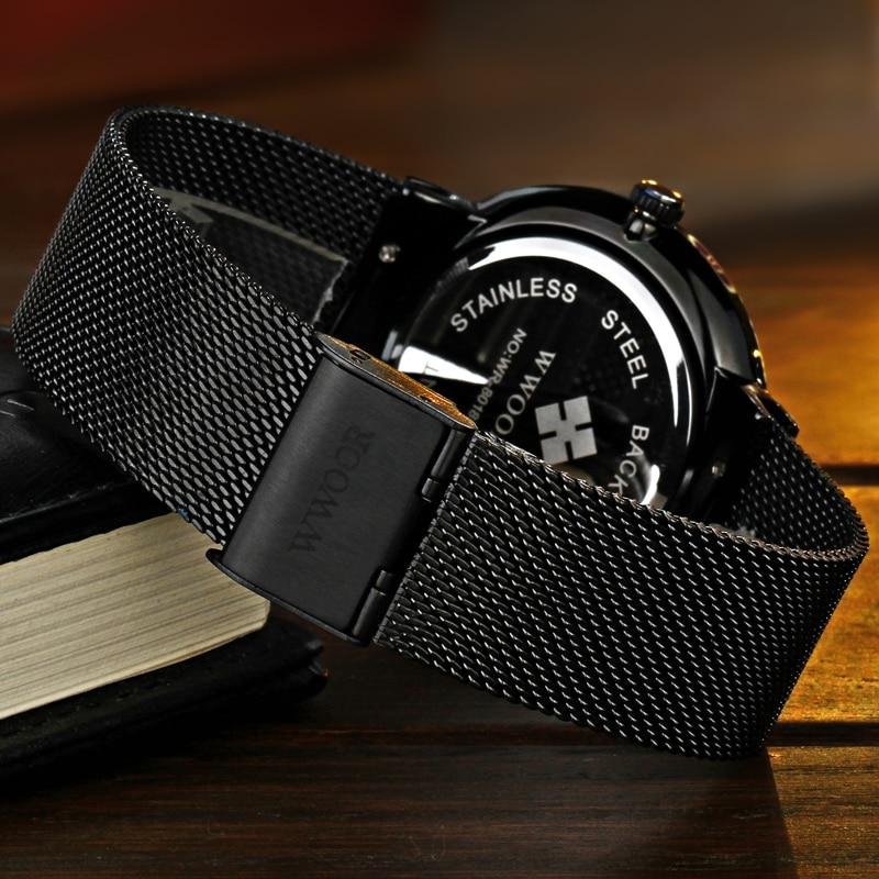 WWOOR μαύρο ρολόι ανδρών ρολογιών - Ανδρικά ρολόγια - Φωτογραφία 5