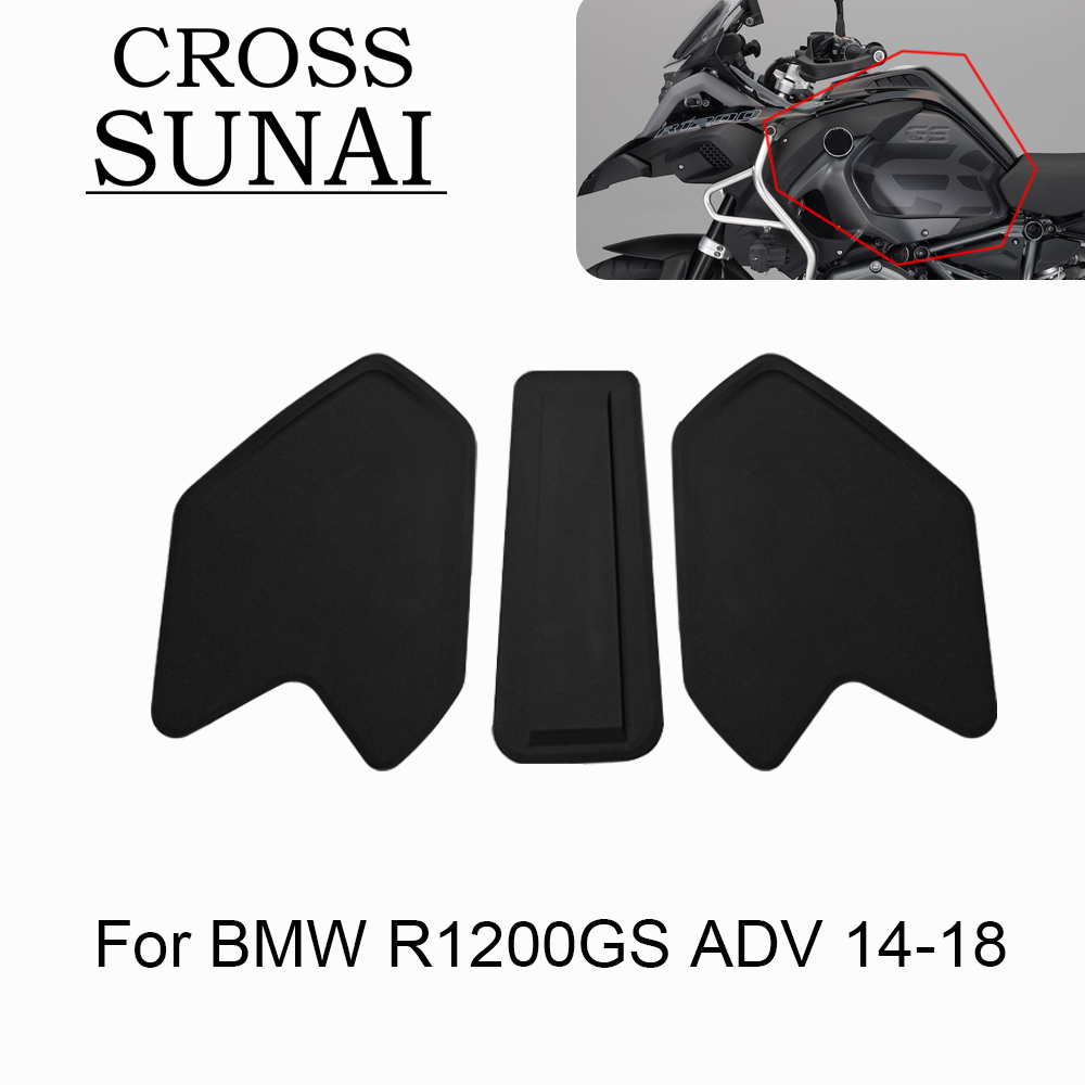 Rubber Motorcycle Protector Pad Anti Slip Stickers Pad Auto Accessories For BMW R1200GS R 1200 GS ADV 2014 2015 2016 2017 2018