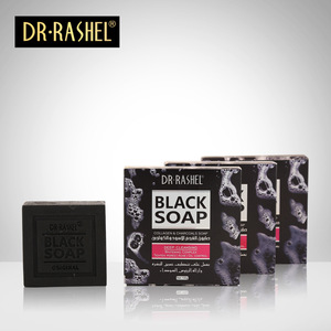Image 4 - 2 pcs Collagen Charcoal Black Soap Face Cleanser Blackhead Remover Whitening Tighten Pore Acne Oil Control DR RASHEL 100g