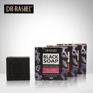 Image 4 - 2 uds jabón negro de carbón de colágeno limpiador removedor espinilla blanqueamiento apretar el acné del poro Control de aceite DR RASHEL 100g