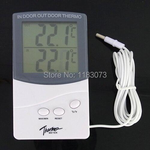 Digital LCD Indoor Outdoor Thermometer Mit 1,5 Mt Draht Kabel Sensor ...