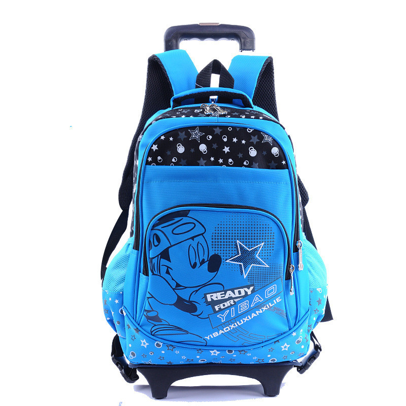Cartoon Design Children Backpacks Detachable Trolley School Backpack For Boys Girls Pretty Kids Book Bag wheeled mochila rolling anime noragami aragoto yato backpack for teenage girls boys cartoon yukine children school bags casul book bag travel backpacks